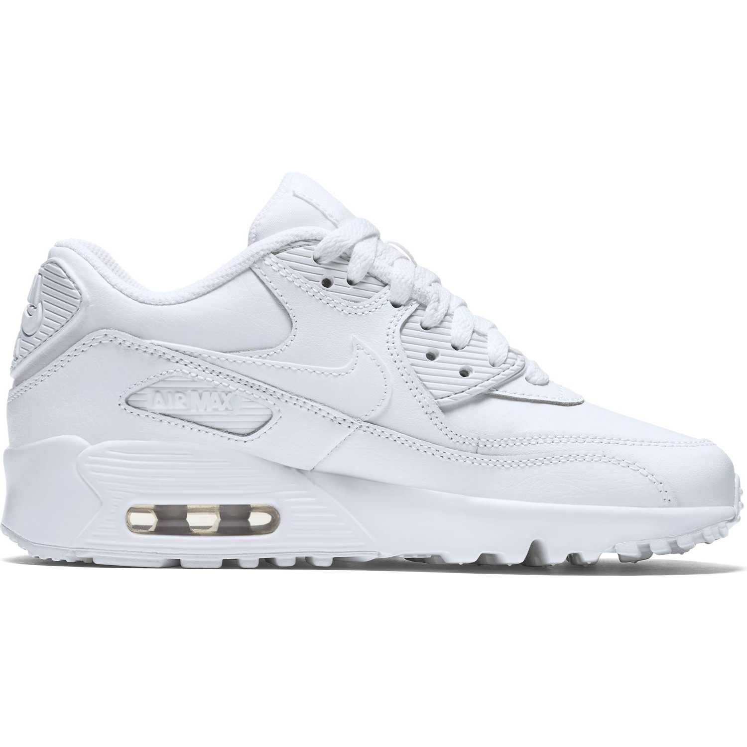 BUTY JUNIOR LIFESTYLE NIKE AIR MAX 90 LEATHER BIAŁE 833412-100