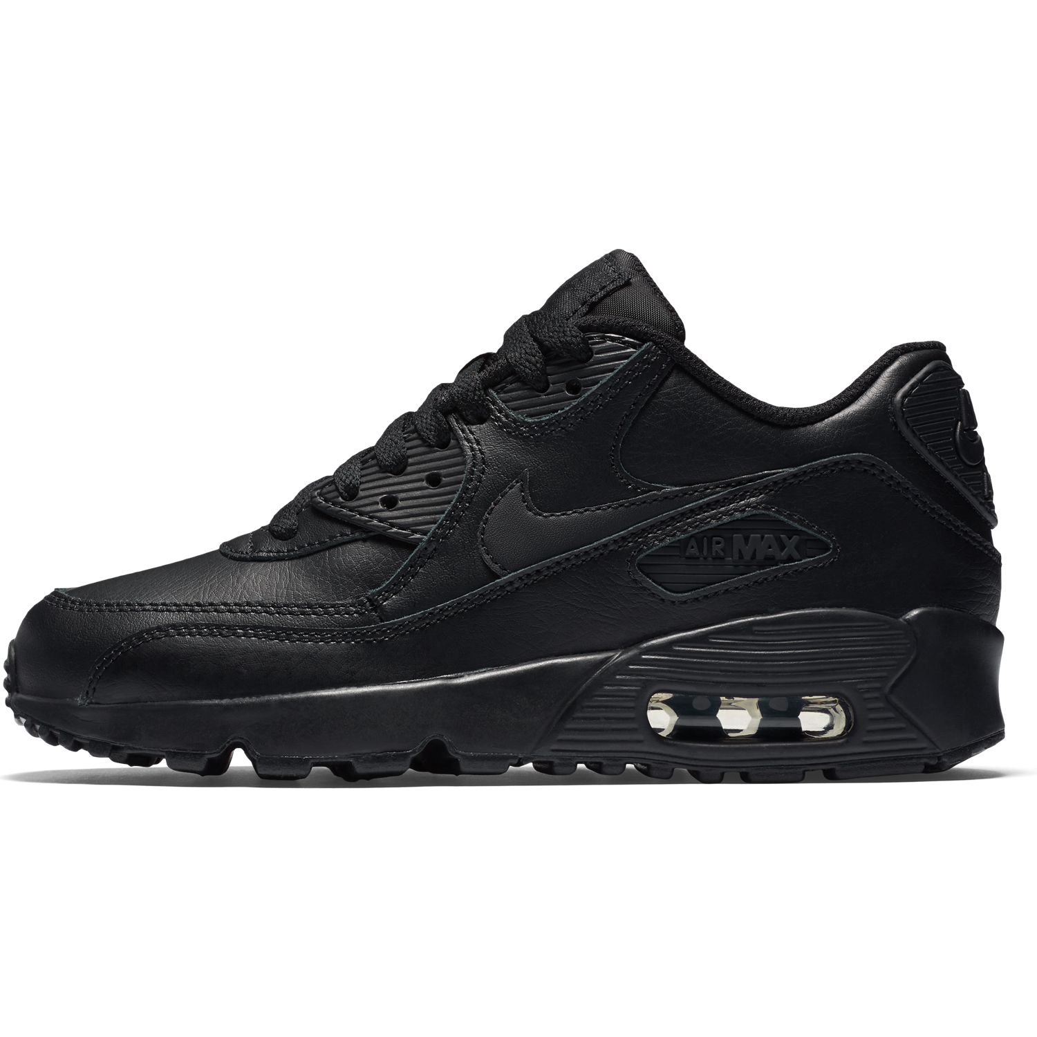 BUTY JUNIOR LIFESTYLE NIKE AIR MAX 90 LEATHER CZARNE 833412-001
