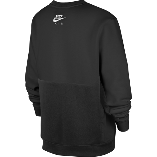 BLUZA JUNIOR NIKE AIR CREW CZARNA CU9210-010